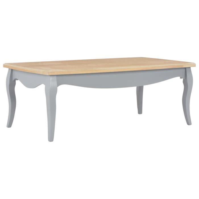 VINTA - Super Magnifique-Table de salon Table Basse Bout de canapé Table à café style contemporain scandinave - Gris et marron7131