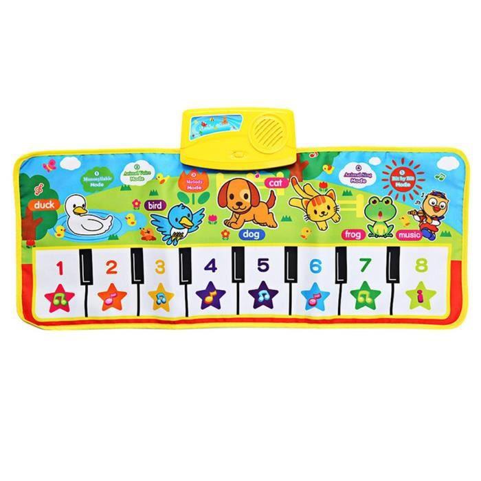 Tapis d'éveil,OCDAY 71X28cm bébé anglais Musical Piano musique tapis bébé enfants tapis de jeu couverture éducatif - Type 71X28cm