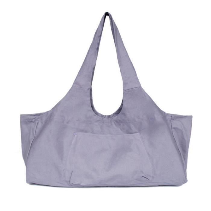 Grande capacité sac de yoga en toile corps de fitness une épaule yoga ma danse sac de rangement de vêtements Violet
