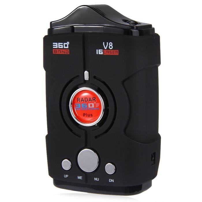 détecteur de radar - laser wagons vitesse v8 avertissement 16 groupe vocal auto - 360 degrés, système de contrôle de la vitesse