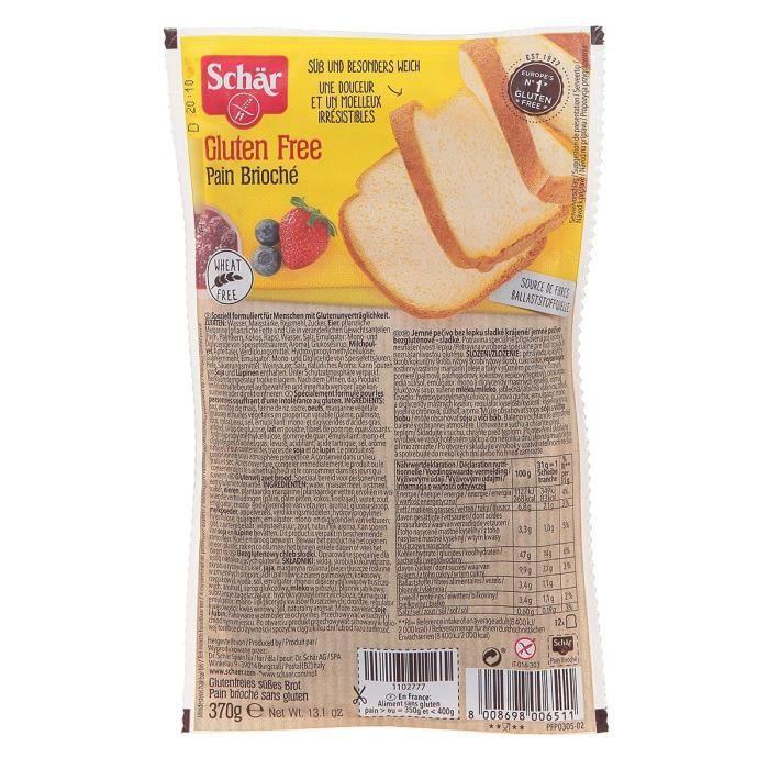 SCHAR Pain Brioché Sans gluten - 370 g
