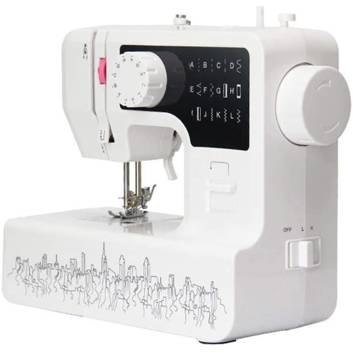 WANGLXST Multifonction Ajustables Machine agrave Coudre, Portable Electronique pour D eacutebutants, Decorative Tradition, White