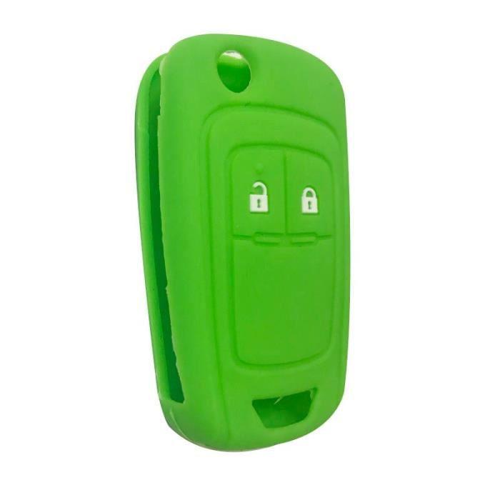 Coque clé,Clé à clé pour Opel Insignia Vauxhall En Silicone, etui à clé pour Buick Regal Lacrosse, Encore Excelle - Type green