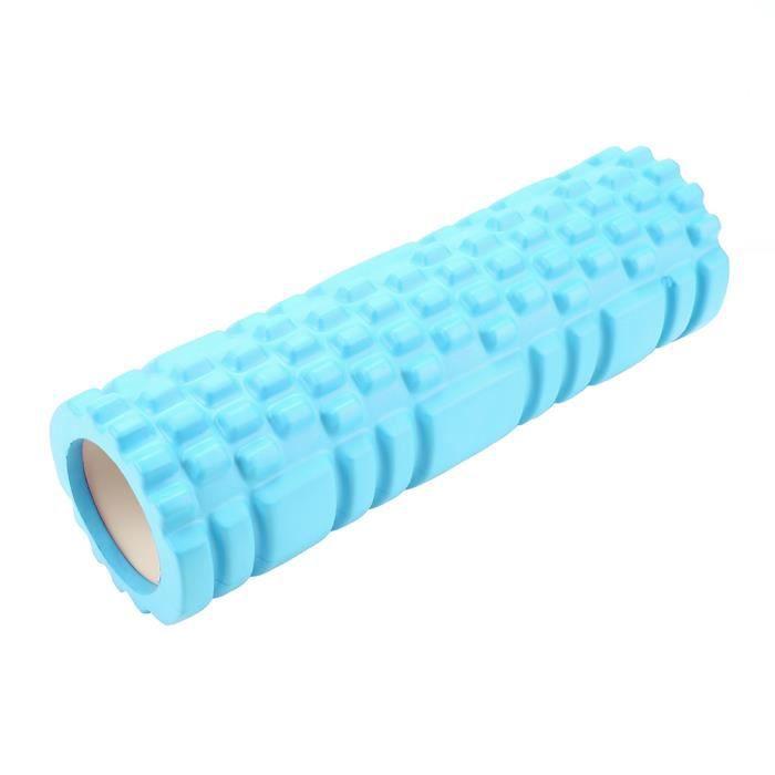 Garosa Rouleau de yoga Mini rouleau de yoga creux exercice rouleau de remise en forme Physio Workout Yoga colonne de massage (bleu)