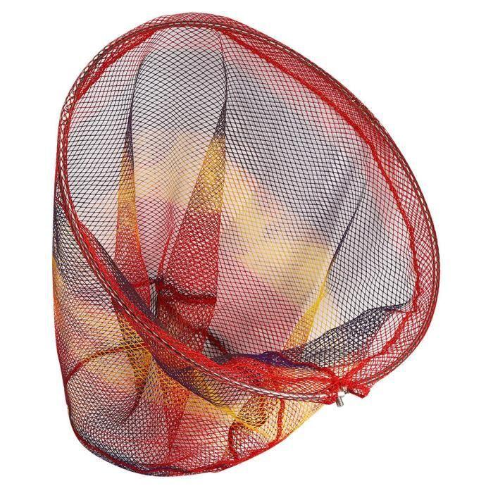 YOSOO Filet de poisson 50cm Filet de Pêche Pliable Portable Type d'Ouverture Piège à Crevettes en Mouvement Accessoire de Cage à