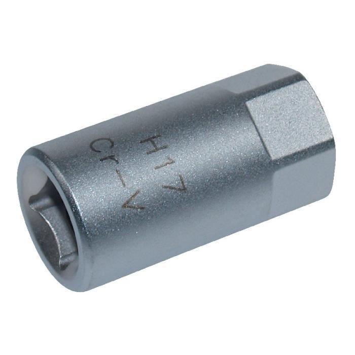 Embout de vidange, chrome vanadium, male, 3/8, 6 pans, 17 mm - AUTOBEST