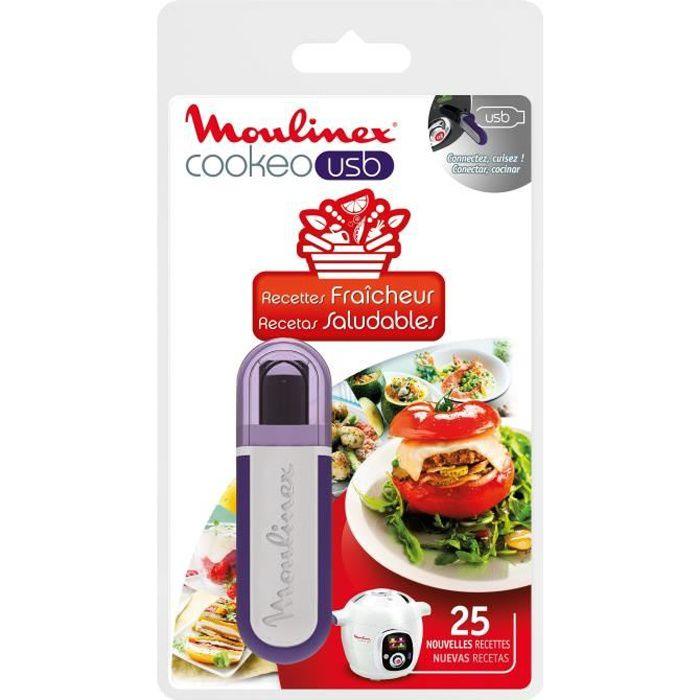 MOULINEX Accessoires XA600511 Clé USB thème fraicheur pour Cookeo