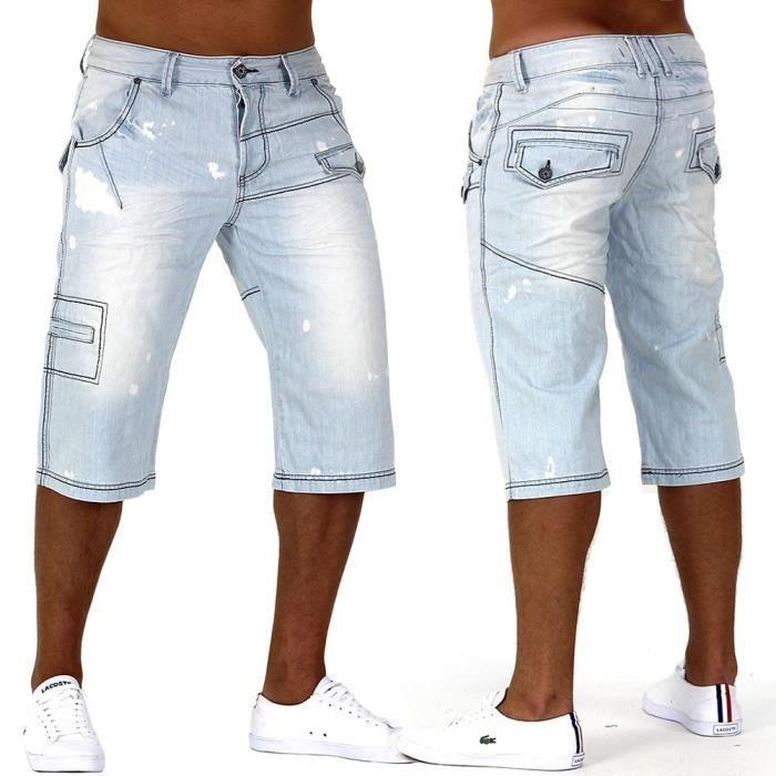 Shorts Jeans Shorts Caipirinha Denim Cargo Capri Shorts Vintage Hommes