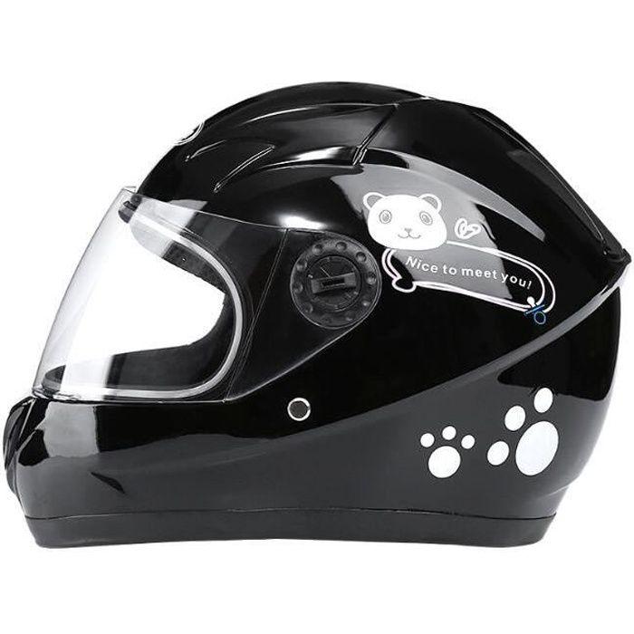 Casque intégral Moto Casque intégral Enfant Moto électrique Casque de sécurité Chaud pour bébé Collier Enfant