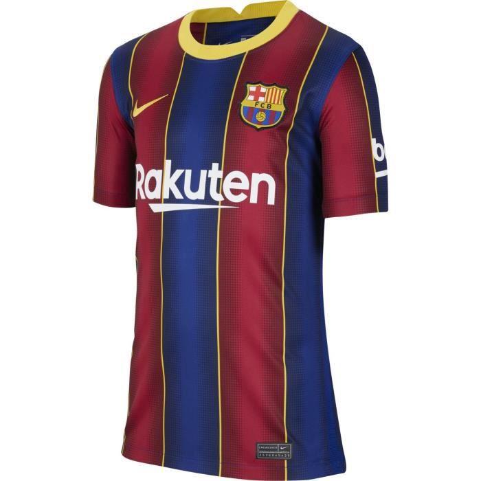 Maillot Nike Barcelone Domicile 2020-21 bleu / rouge / or enfant