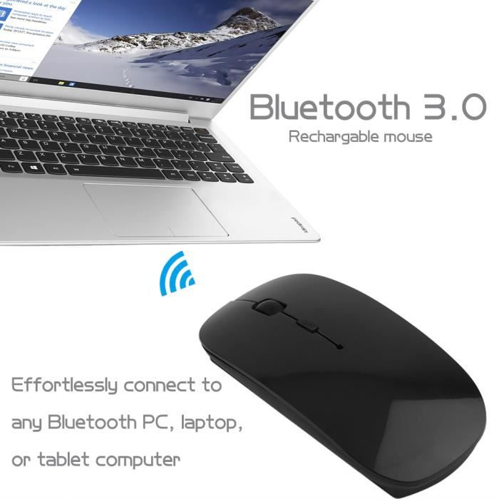Portable Rechargeable Bluetooth 3.0 Souris sans fil pour ordinateur portable PC