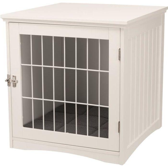 TRIXIE Niche d'intérieur - Taille S - 48 x 51 x 51 cm - Blanc - Pour chien et chat