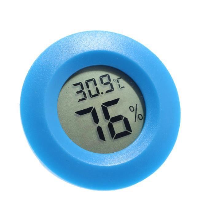 Thermomètre de boîte à reptiles hygromètre numérique de forme ronde pour la maison de chambre à coucher intérieure (rouge)