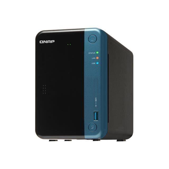 QNAP TS-253Be Serveur NAS 2 Baies 12 To SATA 6Gb-s HDD 6 To x 2 RAID 0, 1, 5, 6, 10, JBOD RAM 2 Go Gigabit Ethernet iSCSI