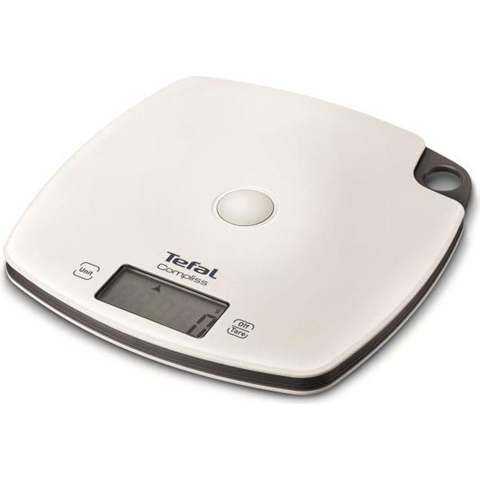 tefal - balance de cuisine électronique 5kg - 1g blanc - bc1000v0