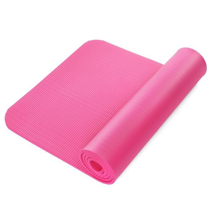 TEMPSA 183x61cm NBR Tapis de Yoga Fitness sport Pilates Gym Antidérapant épaissi sans goût Esterilla ROSE