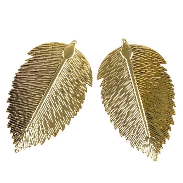 2 X Breloques attachées à un ruban comme cadeau pour décoration en feuille dorée de TRIXES
