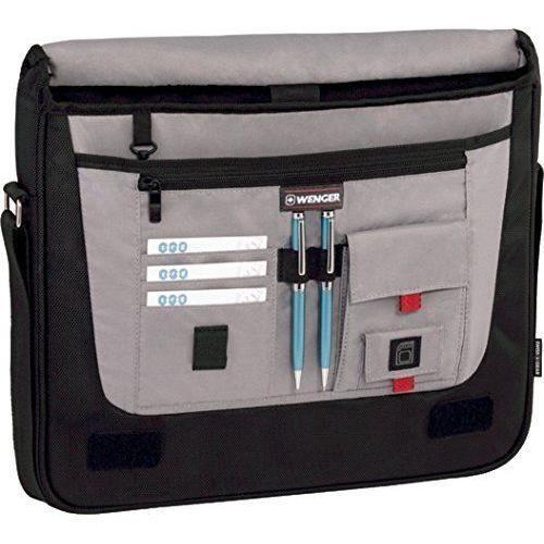 Wenger 600665 DEVELOPER 15`` MacBook Pro Messenger Bag with iPad Pocket Black - 67684001