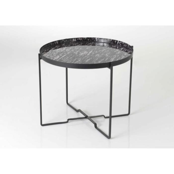 Table basse metal noir ronde achat vente table basse for Table ronde metal