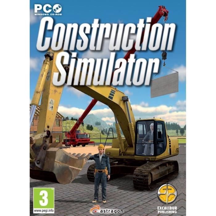 construction simulator pc dvd uk import achat vente jeu pc construction simulator pc. Black Bedroom Furniture Sets. Home Design Ideas