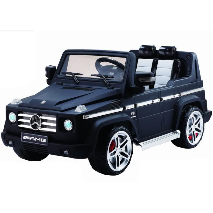 mini voiture lectrique enfant g55 mercedes 4x4 noir mat. Black Bedroom Furniture Sets. Home Design Ideas