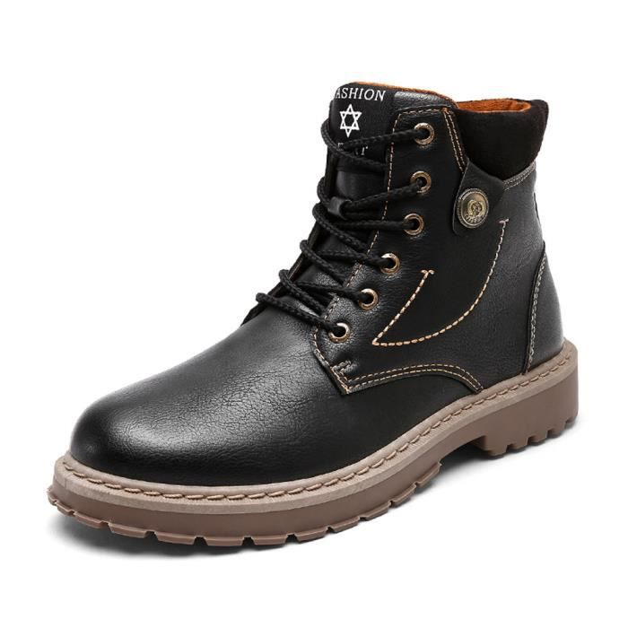 Hommes Bottes Mode Casual Chaussures Sneakers Montantes Martin Bottines Noir qFqAPnY