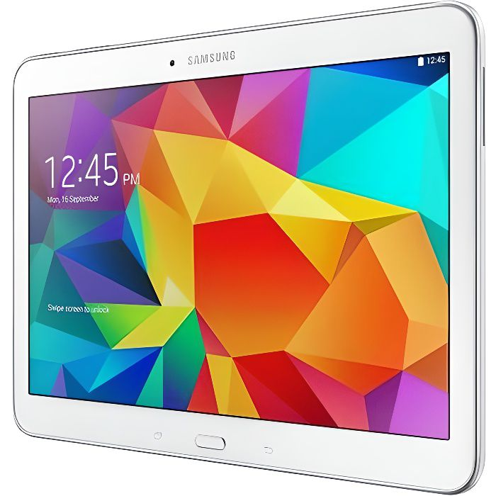 samsung galaxy tab 4 10 blanche 16go 4g prix pas cher. Black Bedroom Furniture Sets. Home Design Ideas