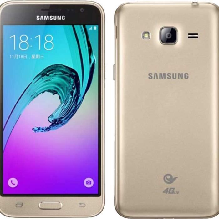 samsung j320 galaxy j3 2016 4g 8gb gold eu achat. Black Bedroom Furniture Sets. Home Design Ideas