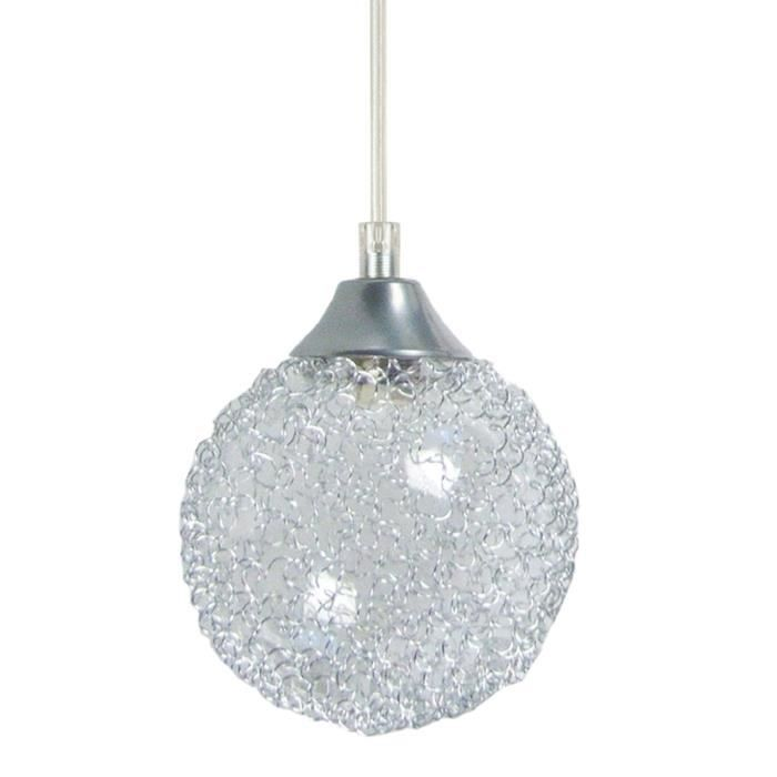 Suspension cuisine verre hat suspension mtalverre noir for Suspension boule