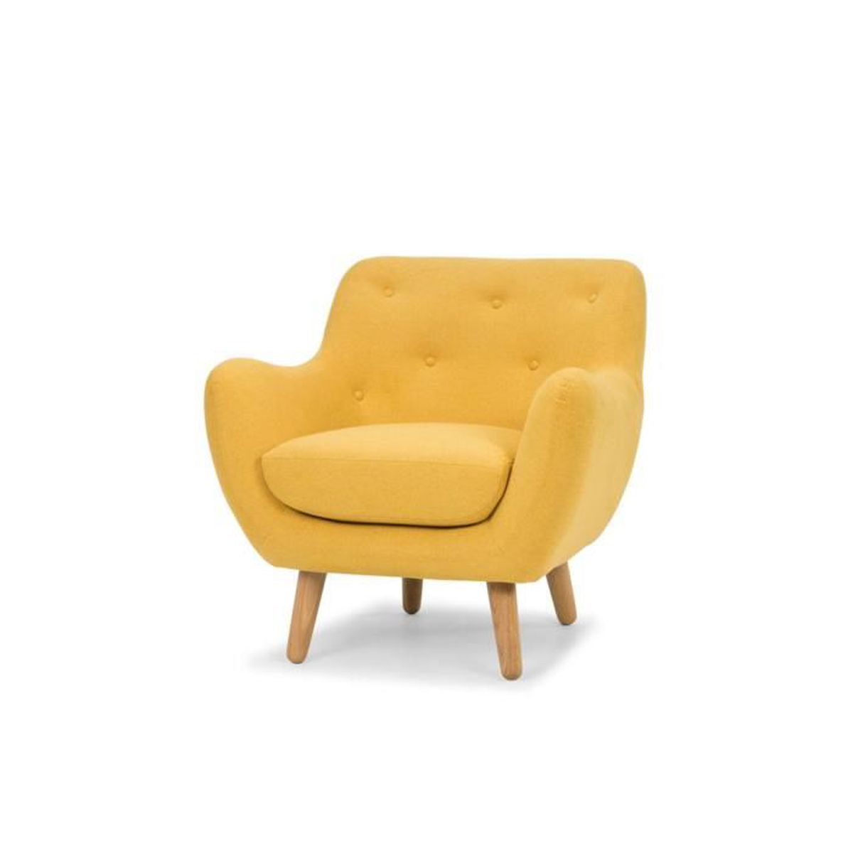 poppy meuble fauteuil esprit scandinave jaune moutarde achat vente fauteuil cdiscount. Black Bedroom Furniture Sets. Home Design Ideas