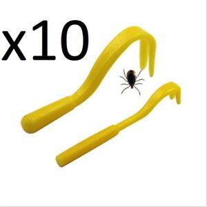 BROSSE - CARDE Lot de 10 Sets de 2 Tire Tiques - Pince - Crochet