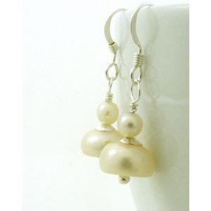 Boucle d'oreille Craze Cultured eau douce Boucles d'oreilles perles