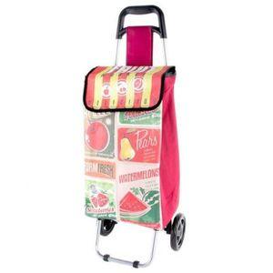 CHARIOT DE MARCHÉ Chariot de courses à roulettes Fruit - Vintage rét