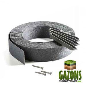 BORDURE Kit   Bordure de Jardin PVC Gris (Rouleau 10m   Pi
