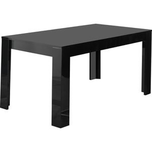 Table a manger noir laque achat vente table a manger for Table a manger noir
