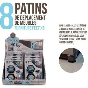 PATIN - EMBOUT 8 Patins de déplacement de meubles - DI8551