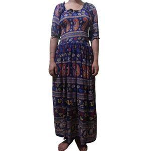 Jessica London Bleu Marine Sans Manches Imprimé Floral Plissée Taille Robe Tailles 20 24 28