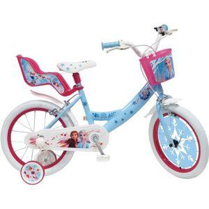 VÉLO ENFANT Vélo 16'' Reine des Neiges 2 avec porte poupée, pa