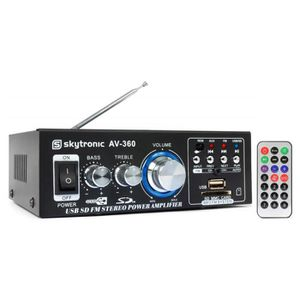 AMPLIFICATEUR HIFI SkyTronic Amplificateur karaoké 2x40W - FM-SD-USB-