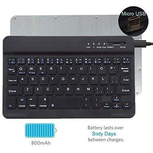 CLAVIER D'ORDINATEUR Universal Ultrathin Wireless Bluetooth Keyboard [Q