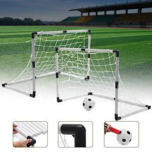 MINI-CAGE DE FOOTBALL Set Ensemble 2 En 1 But De Football Amovible Jardi