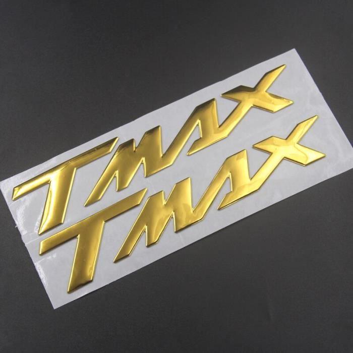 Autocollant avec Logo 3D «TMAX» pour YAMAHA TMAX530, argent, noir, rouge, bleu, or, Badge emblème de moto, roue de [69F6C7E]