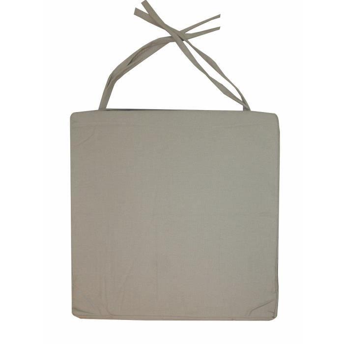 COUSSIN DE CHAISE  Galette de chaise carrée 40x40x4 cm LIN