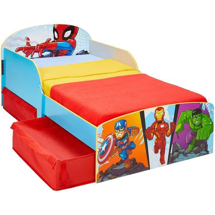Worlds Apart Marvel Superheld Lit pour Enfant avec Espace de Rangement Single[2732]