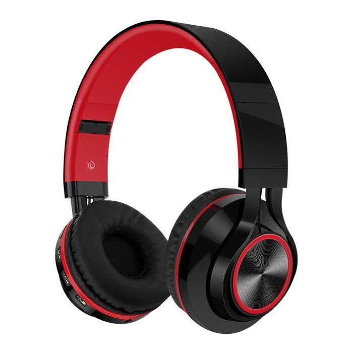 Casque stéréo Hi-Fi de casque pliable sans fil Bluetooth avec carte SD / TF Mic