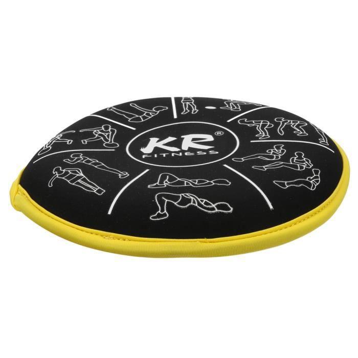 Sac de sable d'entraînement Sable de fitness en néoprène épais double face élastique pour l'exercice (côté jaune 1KG)-REN