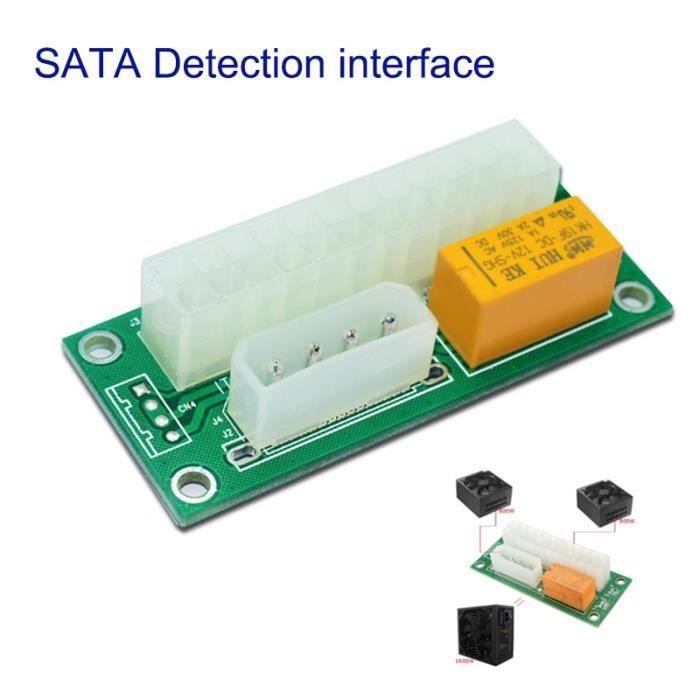 Nouveau connecteur d'adaptateur d'alimentation double connecteur triple relais Link Multiple Add2PSU