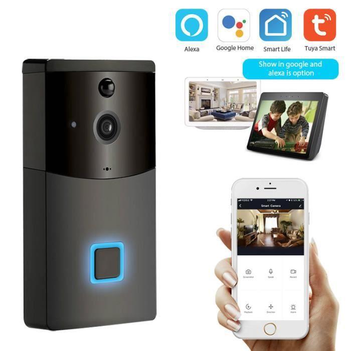 Caméra wi-fi 2.0mp, sonnette wi-fi, application Tuya, caméra pour maison connectée, étanche à la pluie, interphone vidéo sans fil, d