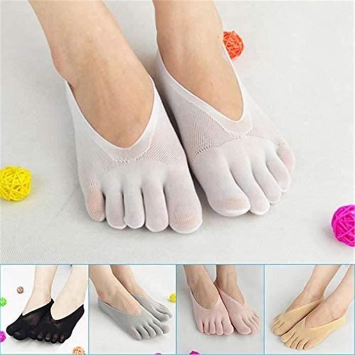 5 paires Chaussettes de yoga pour femmes Chaussettes de Compression orthopédiques, Chaussettes pour Femmes Doublure Ultra Basse
