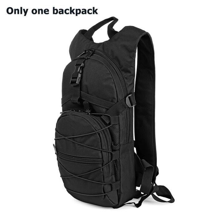 Black(no water bag) -Sac à dos militaire tactique unisexe, sac à dos Camouflage Molle militaire randonnée Camping, sac à dos de plei